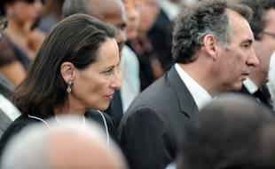 Ségolène Royal et François Bayrou lors des funérailles d'Aimé Césaire, à Fort-de-France le 20 avril 2008.