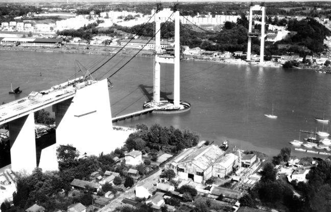 La réalisation du pont d'Aquitaine a duré sept ans