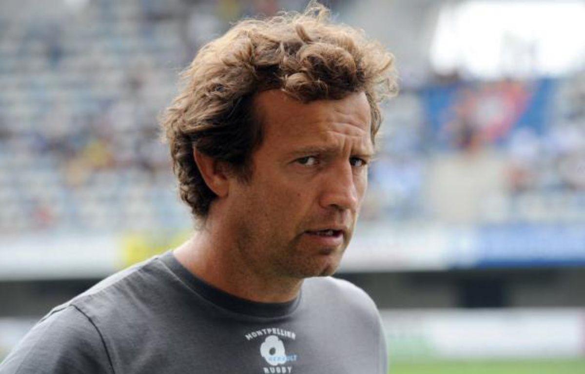 """L'entraîneur de Montpellier Fabien Galthié a critiqué mercredi la Ligue nationale de rugby (LNR) à la suite de la programmation du match Lyon-Montpellier le 30 novembre, soulignant que ses joueurs allaient être contraints de """"jouer trois matches en huit jours"""". – Pascal Guyot afp.com"""