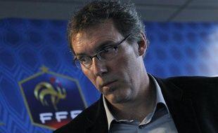 Laurent Blanc, le sélectionneur de l'équipe de France, le 23 février 2012, à Paris.