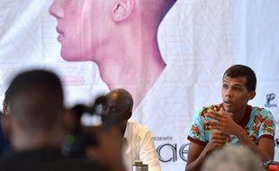 Le chanteur belge d'origine rwandaise, Stromae, pour clore sa tournée africaine avec un concert très attendu au Rwanda, le 17 octobre 2015 à Kigali