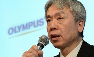 Le PDG du groupe japonais Olympus Hiroyuki Sasa, à Tokyo le 8 juin 2012