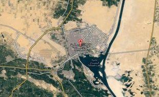Google map de la ville d'Ismaïliya, dans le Nord-Sinaï.