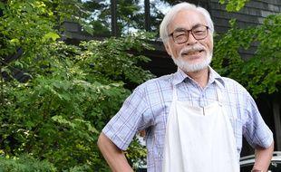Hayao Miyazaki, devant son studio de Koganei, à Tokyo, le 10 juillet 2013.