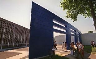 Le campus de l'école des Hautes Etudes Commerciales (HEC), à Jouy en Josas, près de Paris.