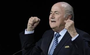 Le président de la Fifa Sepp Blatter à Zurich le 29 mai 2015