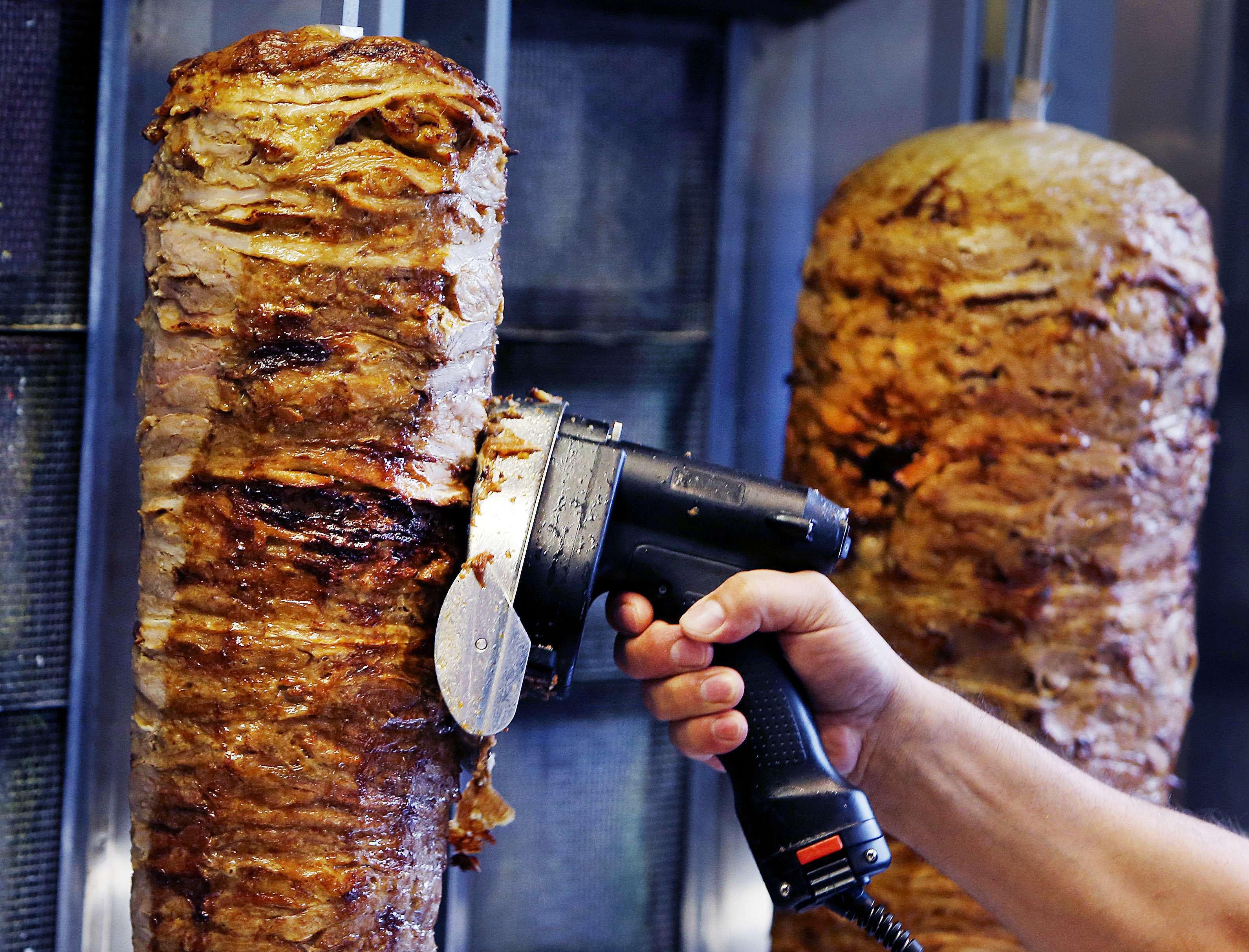 Illustration dans un kebab.