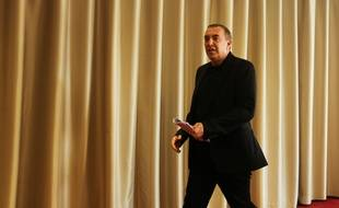 Jean-Marc Morandini arrive à sa conférence de presse, le 19 juillet 2016.