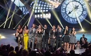 Pendant les NRJMusic Awards 2013 à Cannes, le 26 janvier 2013.