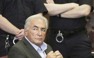 Strauss-Kahn, lors de sa compuration devant le grand jury, le 19 mai.