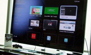 Le système Google TV, via la box Logitech Revue