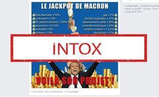 Non, toutes ces augmentations ne sont pas imputables à Macron.