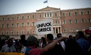 Manifestation de soutien au gouvernement grec à Athènes, le 17 juin 2015