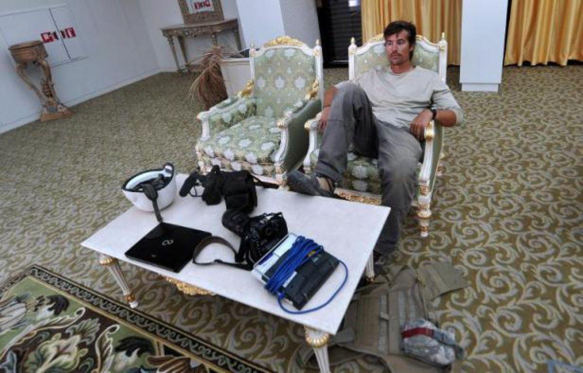 Le journaliste indépendant américain James Foley à l'aéroport de Sirte, en Libye, le 29 septembre 2011 – Aris Messinis AFP