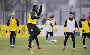Usain Bolt à l'entraînement avec le Borussia Dortmund, le 23 mars 2018.