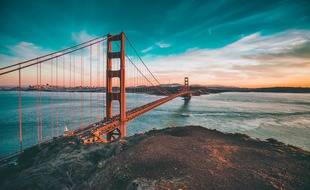 Le Golden Gate Bridge à San Francisco.