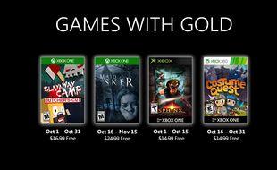 Games with Gold: voici les 4 jeux offerts sur Xbox en octobre