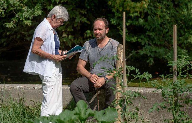 Marion Hänsel et Olivier Gourmet sur le tournage d'En amont du fleuve