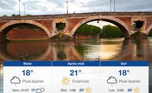 Météo Toulouse: Prévisions du vendredi 30 juillet 2021