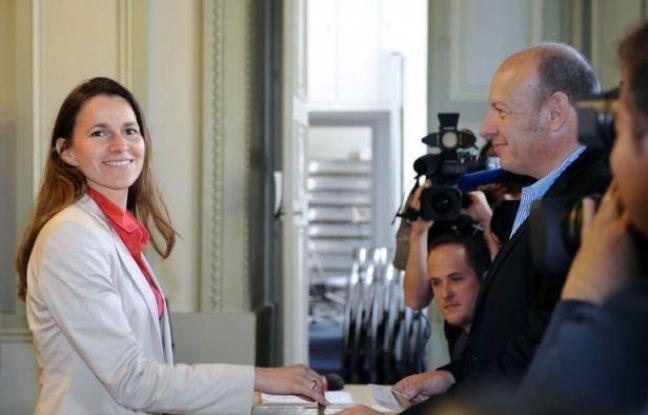 """La ministre de la Culture et de la Communication, Aurélie Filippetti (PS), a annoncé dimanche sur France 2 sa victoire en Moselle avec """"plus de 59 % des voix""""."""