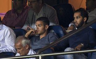 Hatem Ben Arfa dans les tribunes lors de PSG-Arsenal, le 13 septembre 2016.