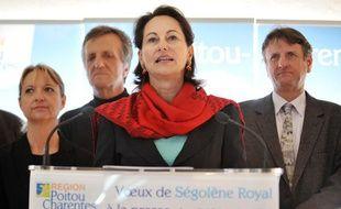 Ségolène Royal, le 10 janvier 2010 à Poitiers, lors de ses voeux à la presse.