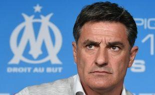 L'entraîneur de l'OM, Michel, le 15 avril 2016, à Marseille.
