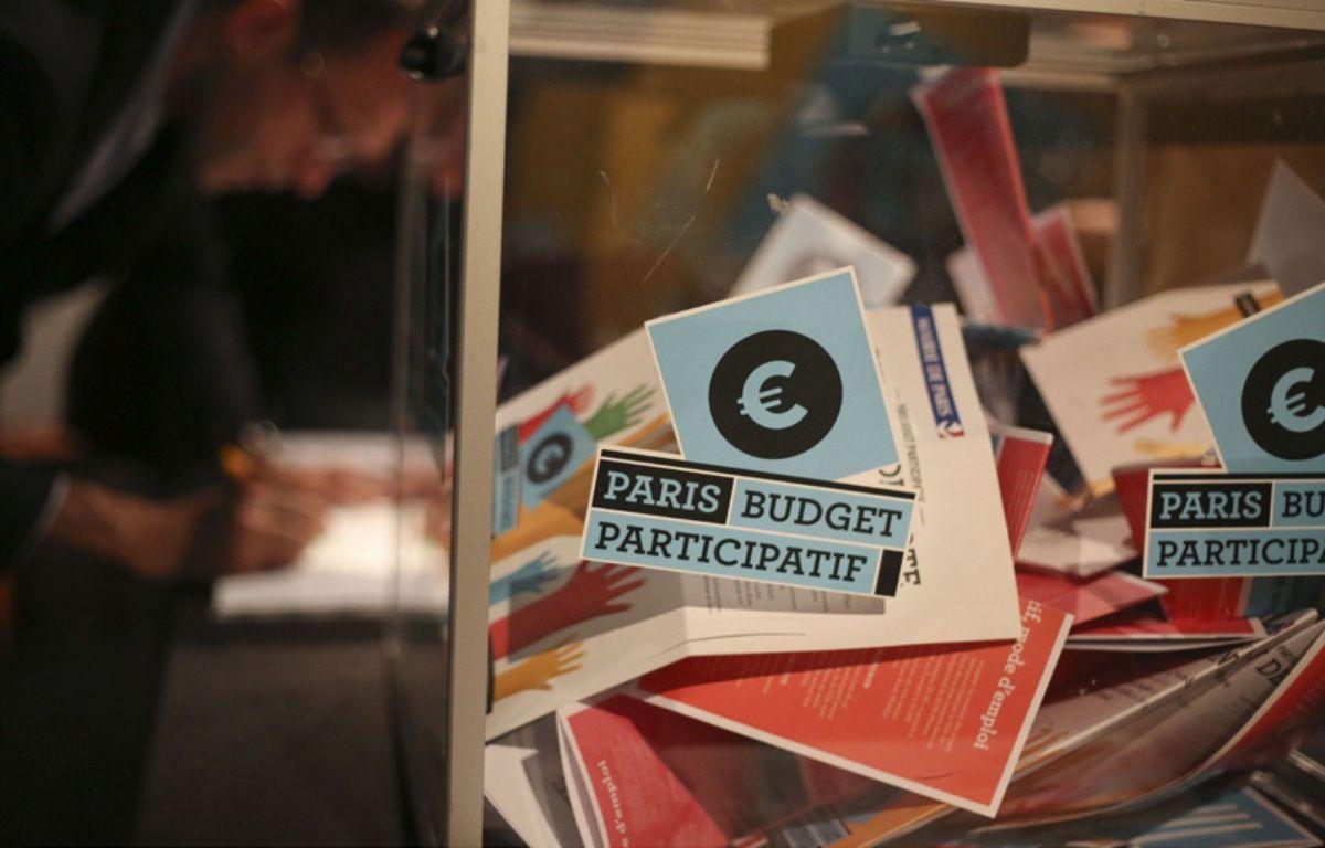 """La plateforme """"Madame la maire j'ai une idée"""" dépassera sans aucune difficulté la barre des 4.000 projets soumis par les Parisiens à l'occasion de la deuxième édition du budget participatif – Franck LODI/SIPA"""