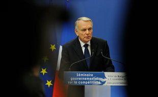 Jean-Marc Ayrault lors de la présentation du CICE le 6 novembre 2012.