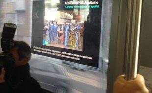 De la réalité augmentée dans le tram Bordelais.