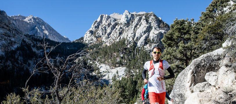 François D'Haene, ici lors de son record sur le John Muir Trail, aux Etats-Unis, réalisé en octobre 2017.