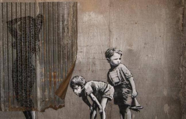 Fresque murale de l'artiste Banksy