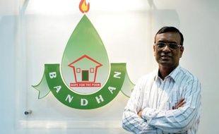 Chandra Shekhar Ghosh, fondateur de Bandhan Financial Services, à Calcutta le 5 mai 2014