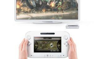 La Wii U, de Nintendo, avec sa nouvelle manette/tablette tactile et le jeu Zelda (a priori une démo technique).
