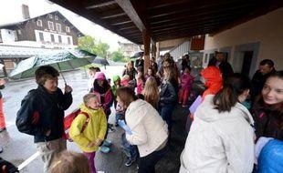 Rentrée scolaire le 26 août 2014 dans une école primaire à Praz-sur-Arly, en Haute-Savoie