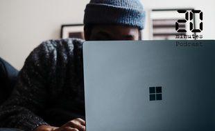 Illustration d'une personne derrière un ordinateur portable