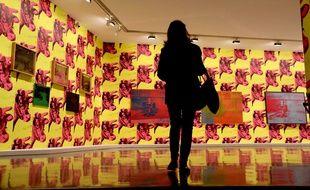 L'exposition Warhol Unlimited au musée d'art moderne de Paris le 1er octobre 2015