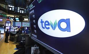 Le logo des laboratoires Teva. (illustration)
