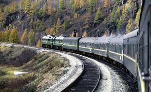 Le train transibérien, en Russie.