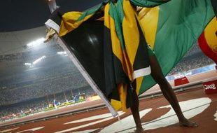 Usain Bolt est fier des couleurs jamaïcaines.