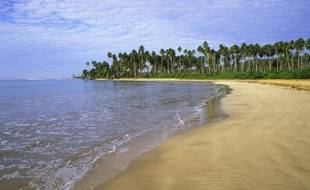 Une plage de l'île de Sumatra.