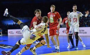 Valentin Porte lors du match France-Norvège au Mondial de handball, le 15 janvier 2017.