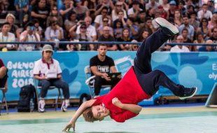 Le breakdance, c'est quand même plus sympa que la lutte grécoromaine. Ici à Buenos Aires, aux Jeux olympiques de la jeunesse, en 2018.