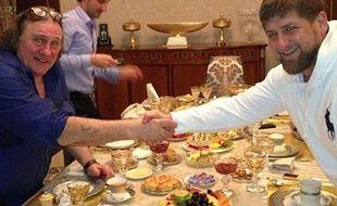 Photo de Gérard Depardieu publiée sur le compte Instagram de Ramzam Kadyrov