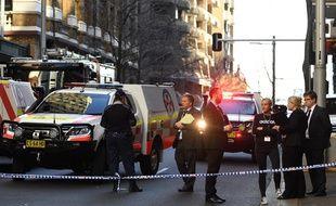 Un homme a attaqué plusieurs personnes au couteau, blessant une femme, dans le centre de Sydney, en Australie, le 13 août 2019.