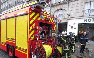Des pompiers à Nantes.