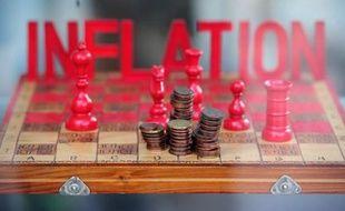 Des centimes d'euros sur un échiquier pour illustrer l'inflation en Allemagne