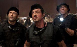 Jason Statham, Sylvester Stallone et Randy Couture dans le film «Expendables: unité spéciale».