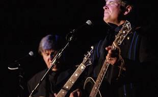 Don (à droite) et Phil Everly, ici en 2000 à Pojoaque Pueblo, formait le duo mythique Everly Brothers.