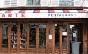 Un restaurant fermé à Paris pendant le confinement, le 31 octobre 2020.
